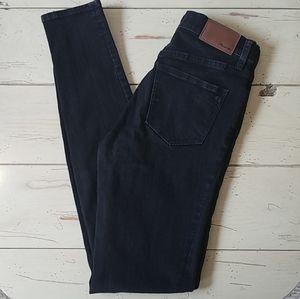 "Madewell 9"" High Riser Skinny Black Frost Jeans"
